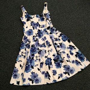 American Living Floral Cotton Dress - POCKETS!